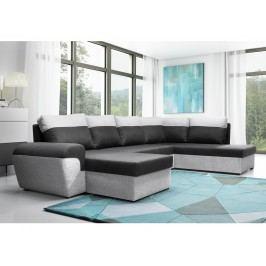 Smartshop Rohová sedačka MORY KORNER XL pravá, černá/šedá