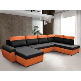 Smartshop Rohová sedačka MORY KORNER XL pravá, černá/oranžová
