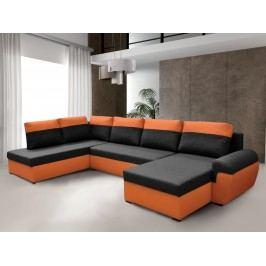 Smartshop Rohová sedačka MORY KORNER XL levá, černá/oranžová