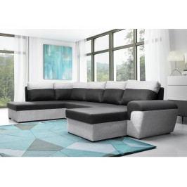 Smartshop Rohová sedačka MORY KORNER XL levá, černá/šedá