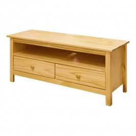 Smarshop TV stolek 2 zásuvky TORINO, masiv borovice
