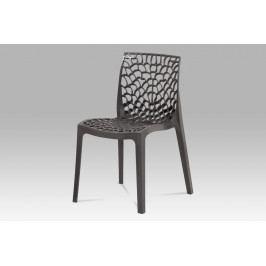 Jídelní židle CT-820 GREY, šedý plast