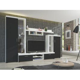 Obývací stěna ASTI, bílá/černá