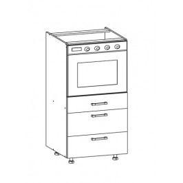 PLATE PLUS dolní skříňka DP3S 60 SMARTBOX, korpus šedá grenola, dvířka bílá perlová