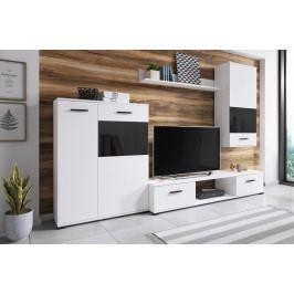 Obývací stěna ARES, bílá/černá