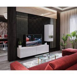 Obývací stěna BOX 15, bílá/bílý lesk