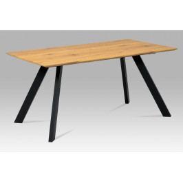 Jídelní stůl 160x90 cm HT-712 OAK, dub/kov
