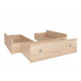Zásuvky k posteli NEPO 140x200 cm - 3 ks, dub sonoma