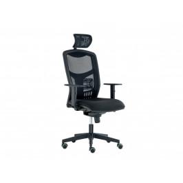 Kancelářská židle YORK SÍŤ s podhlavníkem, černá