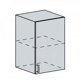 VALERIA, horní skříňka 50 H, wenge/bílý lesk