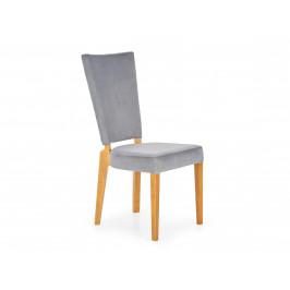 Jídelní židle ROIS, šedá/dub medový