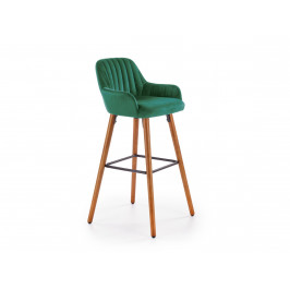 Barová židle H-93, tmavě zelená