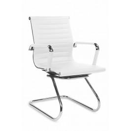 Jednací židle ADK Deluxe Skid, bílá ekokůže