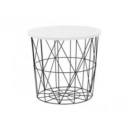 Odkládací stolek MARIFFA, bílá/černá