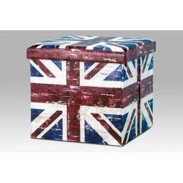 Autronic Taburet skládací DY711139, motiv britské vlajky