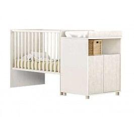JOI rostoucí postel 60x120 a 90x200 cm, bílá/borovice andersen