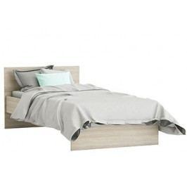 DEMEYERE SVITCH postel 90x190 cm, bílá/dub shannon