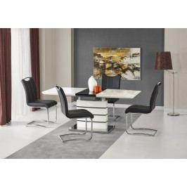 Jídelní stůl rozkládací NORD 140/180x80 cm, bílá/černá
