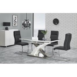 Jídelní stůl rozkládací SANDOR 2, 160/220x90 cm, černý