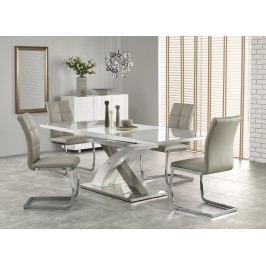 Jídelní stůl rozkládací SANDOR-2, 160/220x90 cm, šedý