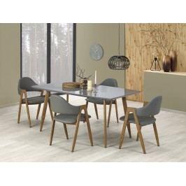 Jídelní stůl rozkládací RUTEN, 160/200x90 cm, šedý/dub medový