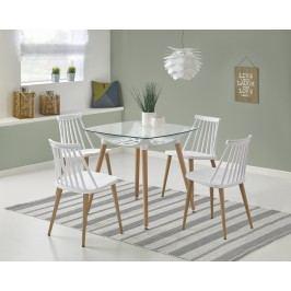 Smartshop Jídelní stůl TONIC, 80x80 cm, bílý/buk