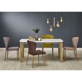 Jídelní stůl WEBER, 160x90 cm, bílý/dub sonoma