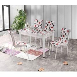 Smartshop Jídelní stůl rozkládací STANBUL 4, 110/170x70 cm, vícebarevný