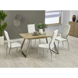 Jídelní stůl rozkládací TREVOR 130/170x80 cm, dub sonoma/bílý