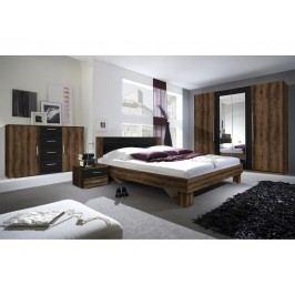 VERA ložnice s postelí 180x200, dub monastery/černá