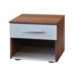 Smarshop Noční stolek 60140, ořech/bílá