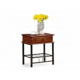Smartshop Noční stolek FIONA, třešeň antická/černá