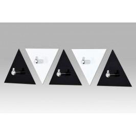Autronic Set (5ks) nástěnných věšáků, černý a bílý akrylát / chrom, GC3511-5