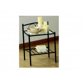 BOCHEME, noční stolek, kov/sklo