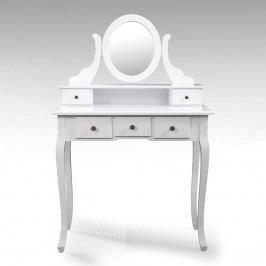 Idea Toaletní stolek se zrcadlem STELLA, bílá