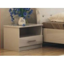 Smartshop Noční stolek PALERMO, bílý lesk
