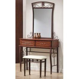 Toaletní stolek SOPHIA, antická třešeň/černý kov