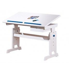 Halmar Rostoucí psací stůl BARU, bílo- růžovo-modrá