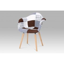 Smartshop Jídelní židle ZCT-726 PW2, patchwork / masiv buk