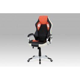 Autronic Kancelářská židle oranžová KA-G277 ORA