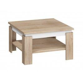 MORAVIA FLAT Konferenční stolek ALFA, dub sonoma světlý/bílý lesk