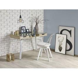 Halmar Moderní psací stůl B33,  dub sonoma/bílá