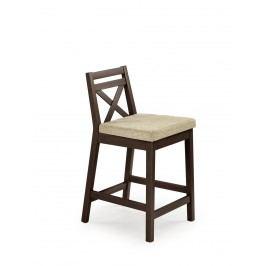 Barová židle nízká BORYS, tmavý ořech