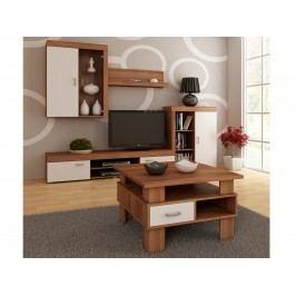 MORAVIA FLAT Konferenční stolek GAMMA, barva: švestka wallis/bílá