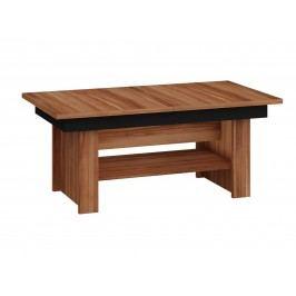 MORAVIA FLAT Konferenční stolek MEXICO rozkládací LESK, barva: švestka wallis/černý lesk