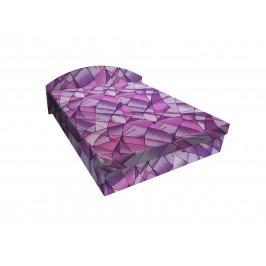 Čalouněná postel ÁJA 120x200 cm, fialová látka