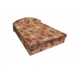 Čalouněná postel ÁJA 120x200 cm, hnědá látka