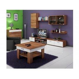 Konferenční stolek OMEGA, švestka wallis/bílá