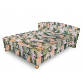 Čalouněná postel NICOL 180x200 cm, zelená látka