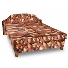 Čalouněná postel KARINA 120x200 cm, hnědožlutá látka